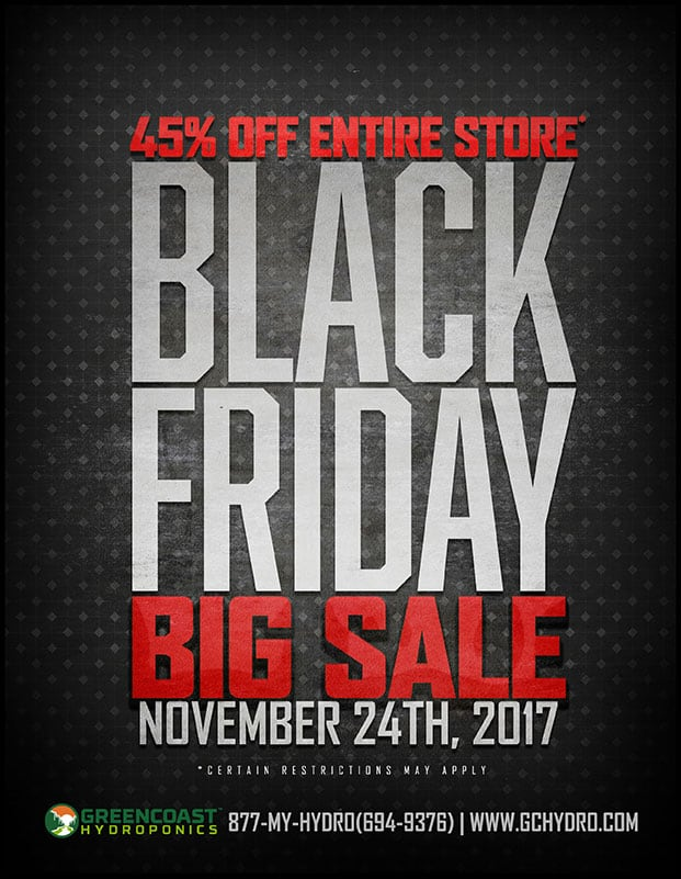 Black Friday 2017! Get 45% Off the Entire Store! (Some restrictions apply.)