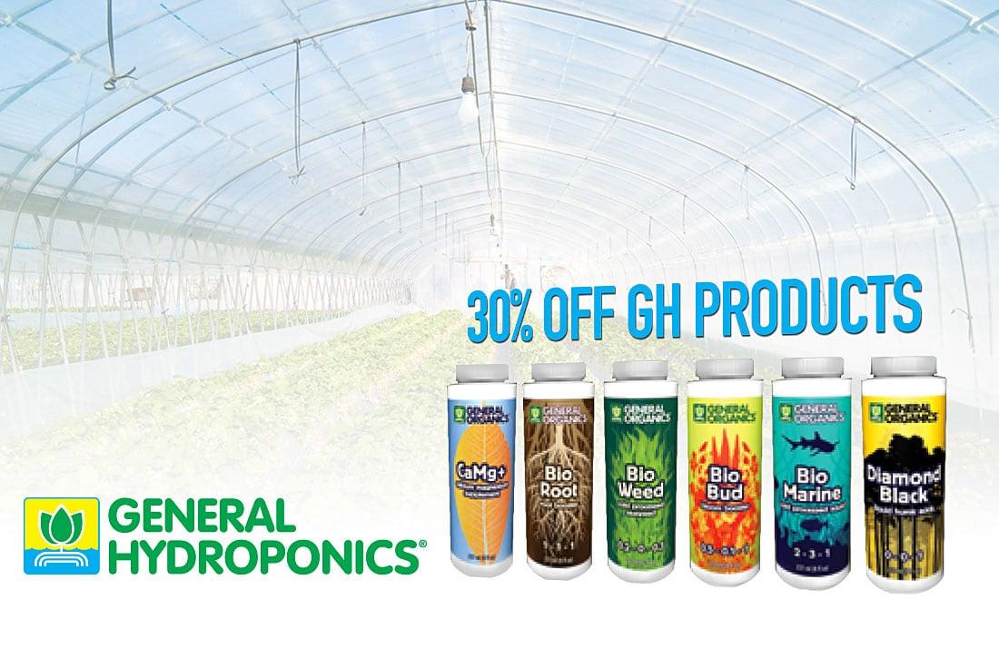 30% off General Hydroponics nutrients