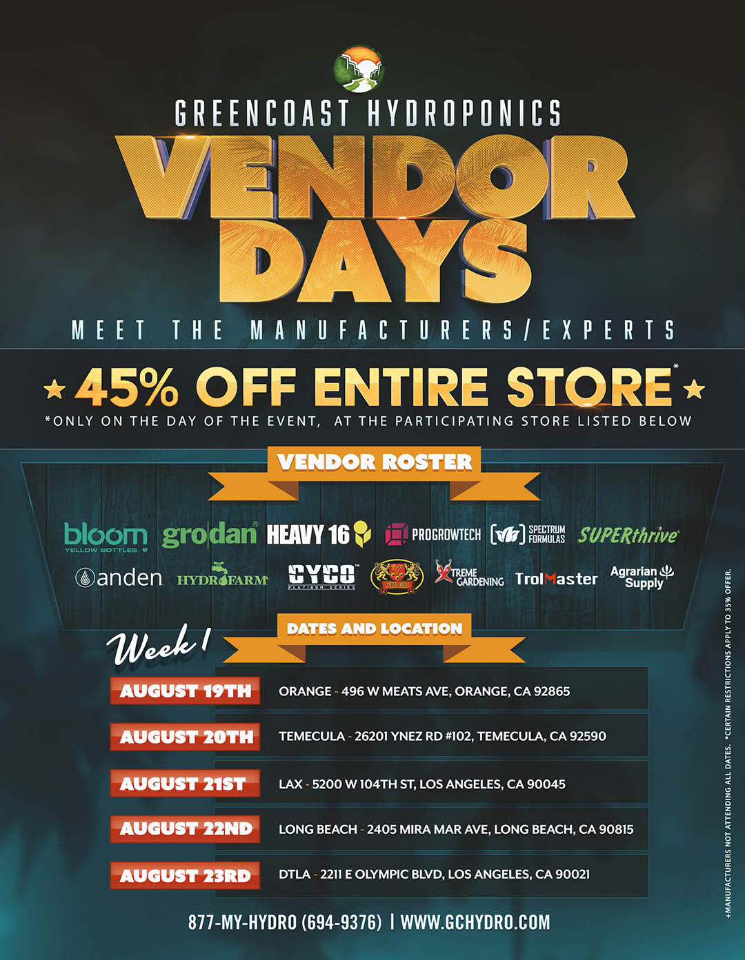 Vendor Day 2019 Week 1