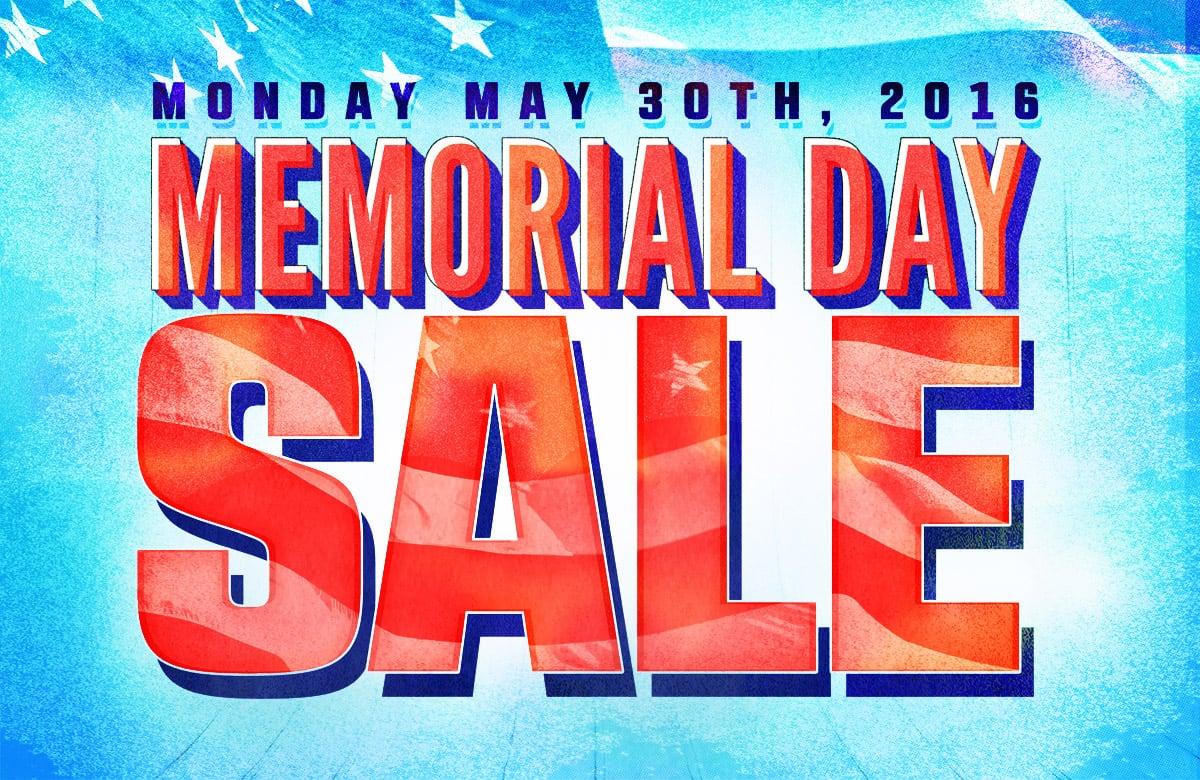 Memorial Day Sale 2016!